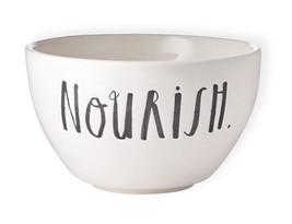 RAE DUNN NOURISH Stoneware Bowl Cereal Salad Dinner Pottery Stem Print - $9.50