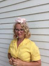 50s Pink Veil Hat Net Spring Vintage - $22.00