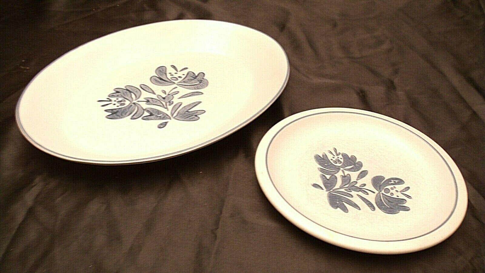 Pfaltzgraff Serving platter No 16 and Salad Plate USA AA20-2131a Vintage