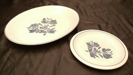Pfaltzgraff Serving platter No 16 and Salad Plate USA AA20-2131a Vintage