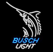 """New Busch Light Shark Fish Logo Beer Bar Neon Light Sign 16""""x13"""" [High Q... - $129.00"""