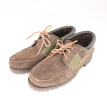Timberland Boat Deck Moc Loafers Brown Leather Mens Size 9W - $39.59