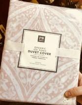 Pottery Barn Teen Izzi Rings Duvet Cover Quartz Blush Pink Queen Geo No ... - $68.99
