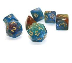 HD Dice Polyhedral Glitter Dice Set Blue Green Red DND Dice Fit Dungeons and Dra image 4