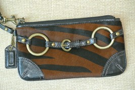 NEW Coach Calf Hair Tiger Print Wristlet Wallet - $19.79