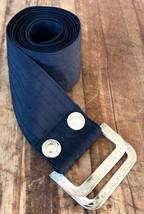 Christian Dior Belt Women's Size O/S Black Fabric Embossed Logo Buckle 1... - $43.66
