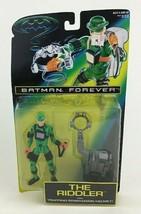 "Batman Forever The Riddler with Brain Drain Helmet 5"" Figure Kenner Vintage 1995 - $12.42"