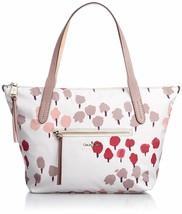 Cole Haan Parker Nylon Small Zip Top Shopper Bag Leather Trim Carerra Co... - $98.00