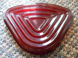 Old Vintage Glass Ruby Red Manhattan Relish Tray Outer Insert Dish Bowl - $9.99