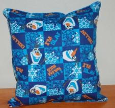 OLAF Pillow Disney Olaf Frozen HANDMADE in USA New Dark Blue Flannel Rare - $9.99