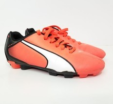 e7d2acce5f8 Puma Soccer Cleats Size 4.5 Boys Girls Orange White Shoes Laces -  12.86