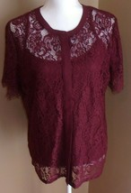 NEW! Liz Claiborne ~ WOMEN'S SIZE Large ~  LACE TOP + Cami Set ~ NWT - $24.95