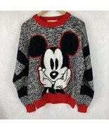 VTG 90s Mickey & Co L Disney Mouse Gray Red Baggy Color Block Pullover S... - $36.62