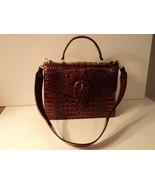 Brahmin Gabriella Melbourne Pecan Satchel Embossed Leather NWT Gift Receipt $345 - $217.79