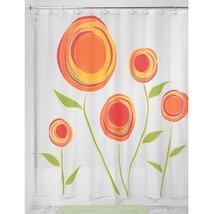 InterDesign Marigold Fabric Shower Curtain, Orange/Red - $18.59