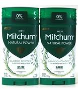 2 Count Mitchum Men 2.7 Oz Natural Power Bamboo Powder Cedarwood Scent D... - $21.99