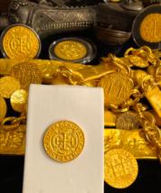 Mexico 1715 Fleet Royal 4 Escudos Gold Plt Pendant Doubloon Cob Treasure Coin - $225.00
