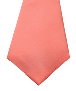 NEW ALFANI AVENUE SOLID CORAL SILK POLY NECK TIE $52 - $8.90