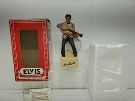 "Elvis Presley 77 Decanter McCormick W/Music Box ""A Portrait Of Elvis"" 7.5"" Tall - $39.59"