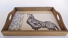 La Vie Parisienne Wood Serving Tray Set of 2  Rooster Canvas Image Black... - €32,94 EUR