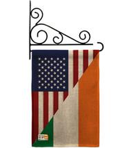 US Irish Friendship Burlap - Impressions Decorative Metal Fansy Wall Bracket Gar - $33.97