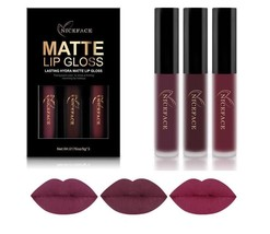3Pcs/Set Liquid Lipstick Long Lasting Matte Velvet Makeup Waterproof Cos... - $248,21 MXN