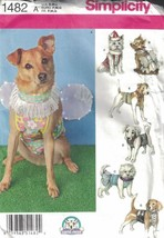 Dog Clothes Costumes in 3 Sizes S M L Simplicity 1482 Bow Ties & More Un... - $7.91