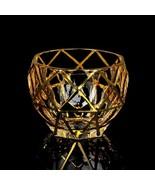 LOULONG® Czech Republic Bohemia Style Whiskey Glass Trace Gold Unique Shape - $28.63+
