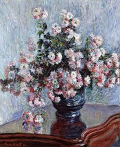 Chrysanthemums Painting by Claude Monet Art Reproduction - $32.99+