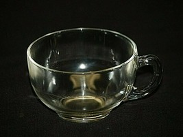 Old Vintage Clear Glass Coffee Tea Punch Cup Glassware MCM - $9.89