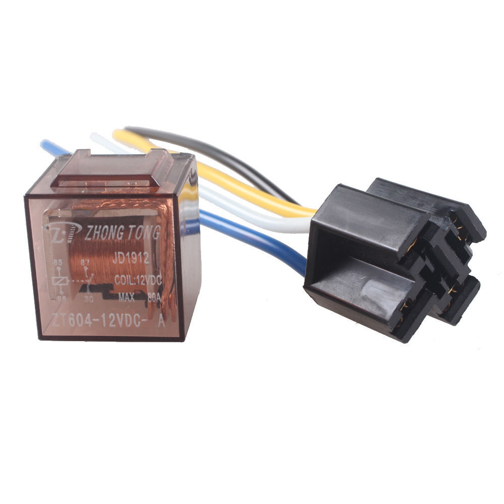 5 X Car Motor Automotive Coil 12V 12 Volt DC 80A SPST Relay 4Pin Heavy