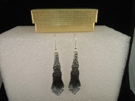 International Alhambra 1907 Earrings Silverplate - $31.18