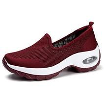 Women's Walking Shoes Sock Sneakers - Mesh Slip On Air Cushion Lady Girl... - $43.78