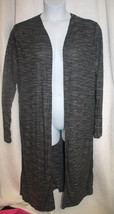 NEW AMBIANCE SIZE 3X CHARCOAL GRAY OPEN FRONT CARDIGAN DUSTER SIDE SLITS... - $21.28