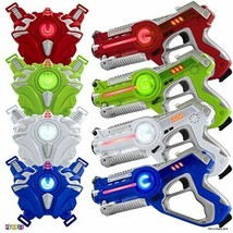 4 Sets Infrared Laser Tag Guns Vest Indoor Outdoor Shooting Toy Game for... - $125.59