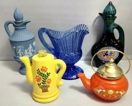 Vintage Avon 3 Pitchers (2 w/Bubble Bath) + Teapot + Coffee Pot - $9.80