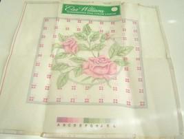 Elsa Williams Burgundy Rose Pillow 23266 Hand Printed Needlepoint Canvas 14 X 14 - $29.99