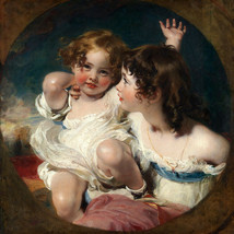 The Calmady Children Portrait 1823 Painting By Sir Thomas Lawrence Repro - $10.96+
