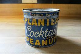1938 Piante Cocktail Salato Peanuts Pubblicità Mr.Peanuts Logo Tin&lid - $80.44