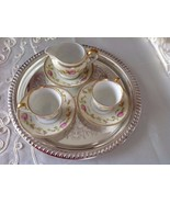 Vintage Albion China  Creamer with Saucer & 2 Demitasse Cups with Saucers - $69.29