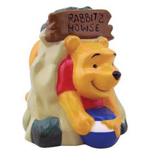 Disney Winnie the Pooh Stuck For Honey Ceramic Salt & Pepper Shakers Set UNUSED - $25.15