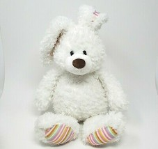 "17 "" GUND Hoppy Jours Hoppin #320020 Blanc Bunny Rabbit Animal en Peluche Jouet - $26.90"