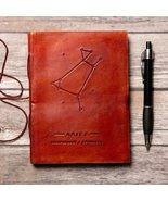 Aries Zodiac Handmade Leather Journal - $38.00