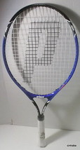 New Prince tennis racquet Shark 25 blue up to 10 years Strung - $22.76