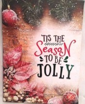 Christmas House Canvas Wall Decor Pic Holiday Gift Home Plaque Sign Tis ... - $7.92