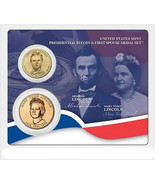 2010 US Mint Abraham Lincoln Presidential $1 Coin & 1st Spouse Medal Set... - $26.48