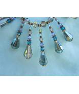Swarovski crystal Aurora Borealis choker with  droplets of changing color - $47.00