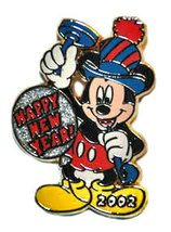 Disney Mickey Mouse Happy New Year pin/pins - $18.39
