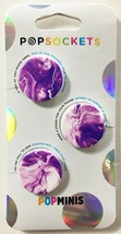 3 Pack PopSockets Purple Marble Bombs PopMinis Cell Phone Grip & Stand NEW