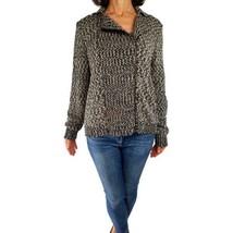 ANN TAYLOR LOFT XL asymmetric zipper moto look fall cardigan sweater gra... - $23.76